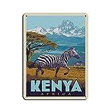 Vintage-Reise-Poster Kenia Retro Poster Metall Blechschild