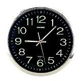 Baoblaze Reloj de Pared Luminoso, silenciosos Relojes de Pared de Cuarzo Redondos sin tictac Que Funcionan con Pilas, números fáciles de Leer en la Noche para