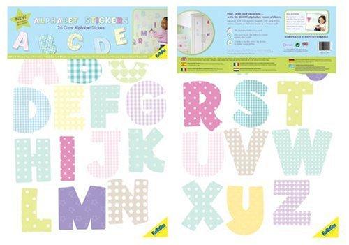 FunToSee Alphabet Nursery and Bedroom Wall Decals, Alphabet