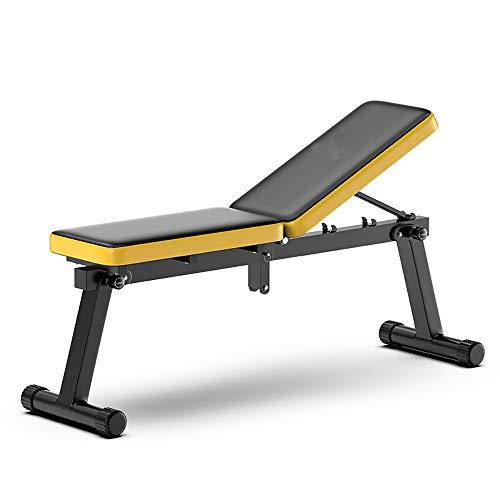 Banco de fitness plegable para hombres con pesas, ajustable inclinado declinación plana banco de entrenamiento perfecto para entrenamiento de cuerpo completo y gimnasio en casa