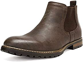 Bruno Marc Men's Philly-2 Dark Brown Leather Lined Chelsea Dress Ankle Boots - 12 M US