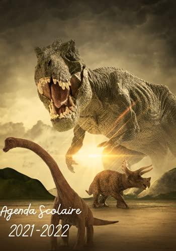 Agenda Scolaire 2021-2022: Le monde du Jurassic, les Dinosaures - Organisateur journalier du 30 Aout 2021 au 10 Juillet 2022 / 2