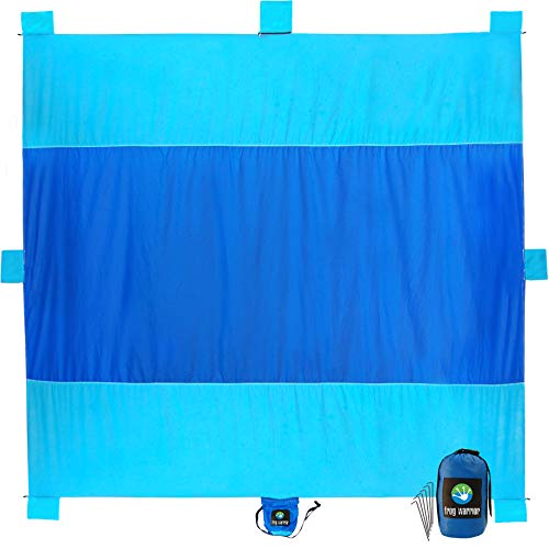 Beach Mat Sand Free Waterproof - Oversized 10'x9' Sand Free Beach Blanket, Compact and Lightweight -...