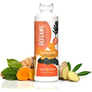 DEFLAME for Muscle and Joint Relief   Natural Anti Inflammatory & Antioxidant Supplement   Liquid & Liposomal   Curcumin, Vegan Omega 3, Ginger, Boswellia
