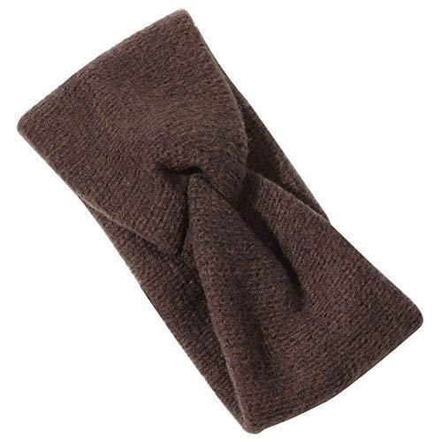 Fácil de Usar Turbante de Yoga elástico para Mujeres, Tejido de Punto Ancho, Color sólido, Moda, Invierno Fengdiu (Couleur : Style 1 Coffee)