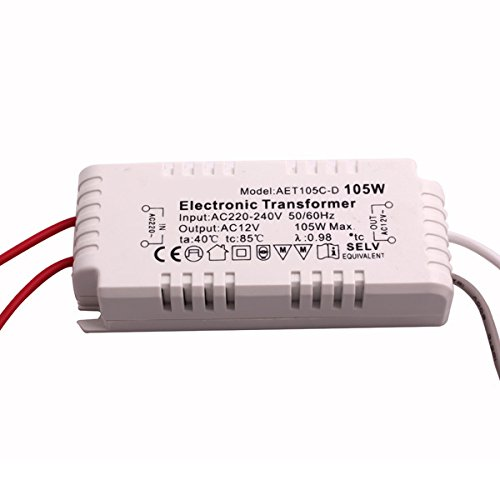 Preisvergleich Produktbild BQLZR 105W Halogen Driver Light Electronic Transformer AC220V to 12V Power Supply