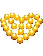 Diyife 12 LED Kaarsen, Vlamloze Flikkerende Theelichtjes, Elektrische Kaarsen, Decoratie voor Kerstmis, Kerstboom, Pasen, Bruiloft, Feest [Batterijen Inbegrepen]