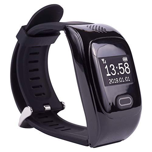 tellimed Solino - GPS Senioren Notruf Uhr - Zuverlässige & einfache Bedienung für maximale Sicherheit Zuhause & Unterwegs - Kinder, Erwachsene & Senioren Notruf - Schwarz