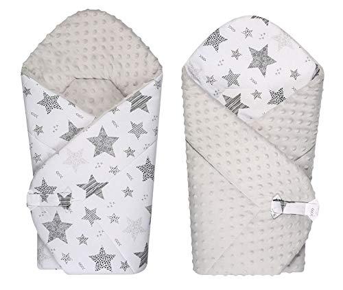 BlueberryShop polar Minky manta reversible para envolver al bebé, Saco de dormir...