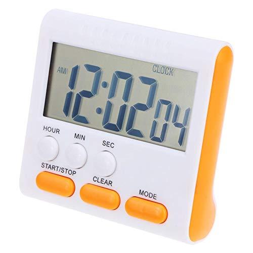 XKMY Temporizador de cocina digital LCD multifunción con alarma para cocina, hornillo, accesorios de cocina (color: naranja)