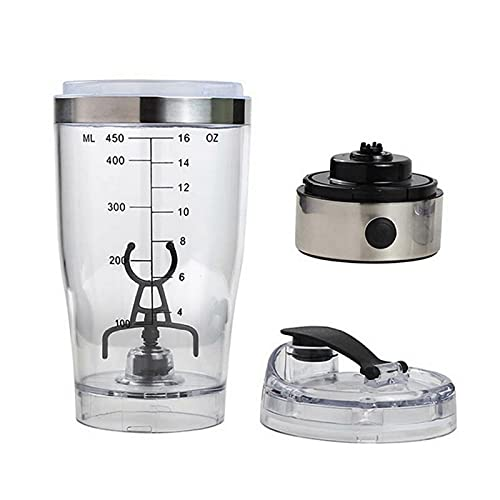 YQK 450 ml proteína eléctrica Shaker USB Shaker Botellas Leche Café Blender Botella de Agua Movimiento Vortex Tornado Smart Mixer