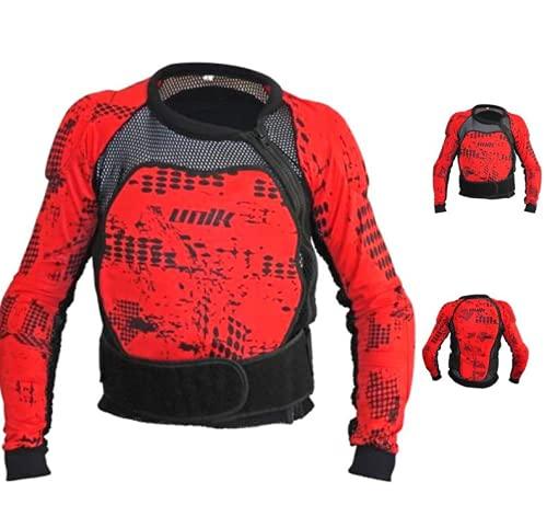 UNIK Px01 Mesh Bib Overall Protection Jacket, Colour-Black/Red, Size-4Xl Chaqueta, Hombre, Negro/Rojo, XXXX-Large