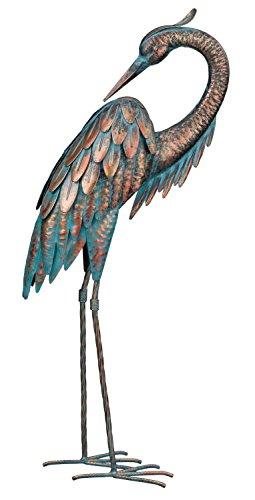 Regal Art & Gift Patina Heron Preening, 25'
