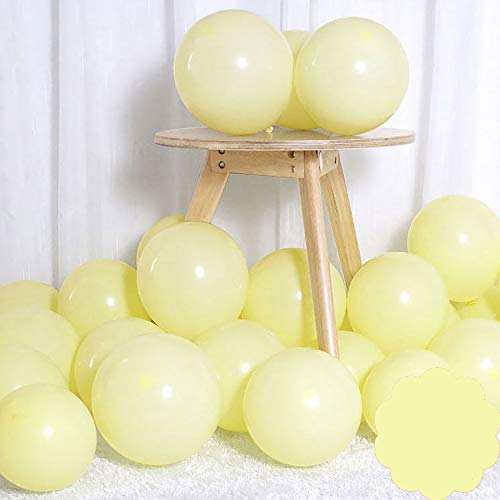 Brontothere Pastel Yellow Balloons 12 inch 50pcs Latex Party Balloons Baby Shower Helium Balloons Yellow Birthday Balloon