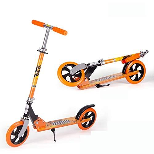 Yui Modelo a Seguir Scooter, Manijas Ajustables Plegables De 2 Ruedas Diseño De Marco De Aluminio Resistente For Niños De hasta 5 Años Y Viajes For Adultos Modelo a Seguir (Color : Orange)