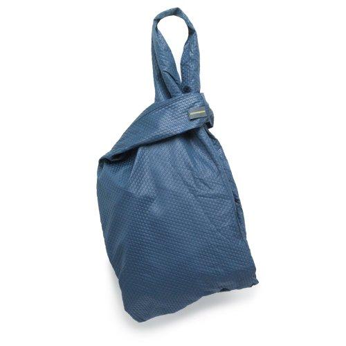 Mandarina Duck 7RT03177 - Bolso de tela de cuero para mujer Azul azul 36 x 30 x 14 cm