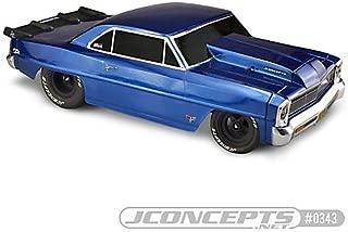 J Concepts 0343 66 Chevy Ii Nova Body 10.75 Inch W 13 Inch Wheelbase Clea
