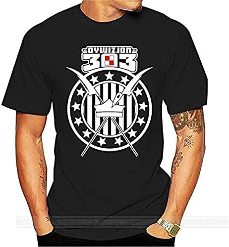 DYWIZJON 303 Polska Meska Koszulka Patriotyczna Polski 303 Squadron Division Cotton Tshirt Men Summer Fashion t-Shirt Euro Size_848