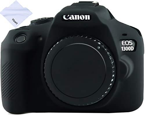 Yisau Canon EOS Rebel T6 T7 Camera Housing Case, Silicion Rubber Camera Case Cover Detachable Protective for Canon EOS 1300D Rebel T6/ EOS 1500D Rebel T7 KISS X90 Camera (Black)