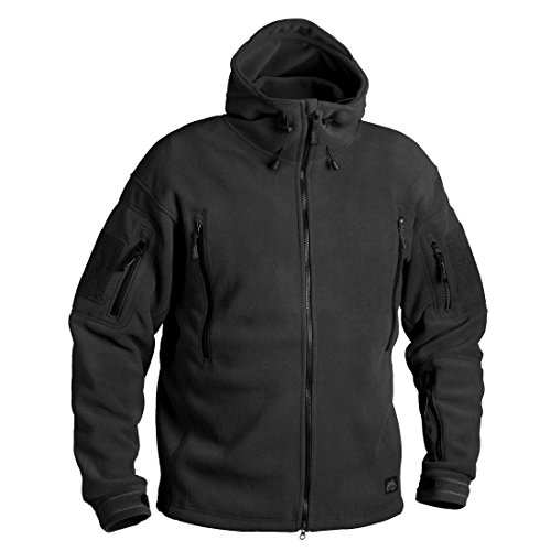 Helikon-Tex Patriot Jacke -Double Fleece, Large, Schwarz