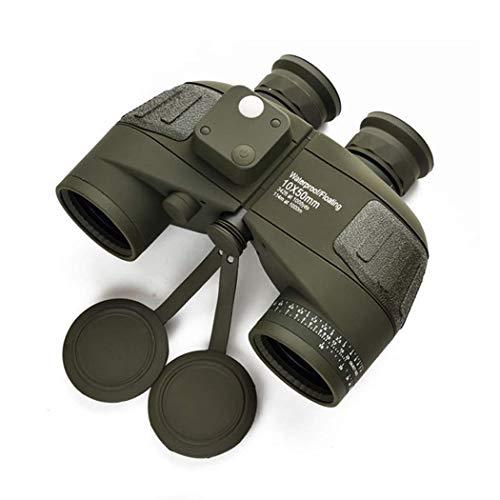 XBSLJ Fernglas für Erwachsene, Fernglas 10x50 Professional Marine Fernglas Wasserdichtes digitales Kompass-Teleskop Hochleistungs-LLL-Nachtsichtgerät