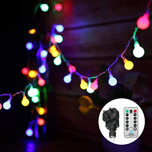 Globe String Lights Mains Powered 13M/43ft 100 LED...