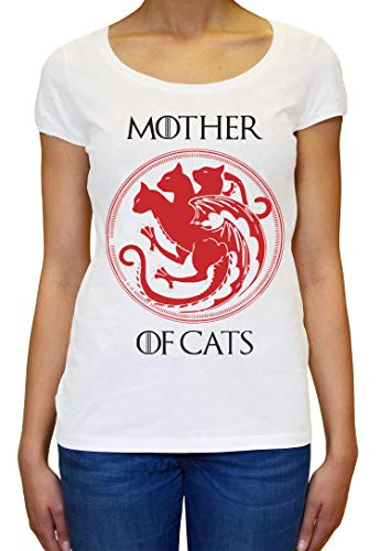 ShutUp Co. Mother of Cats Camiseta para Mujer Large