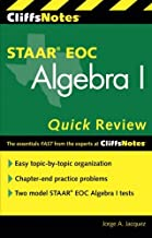 CliffsNotes Staar Eoc Algebra I Quick Review