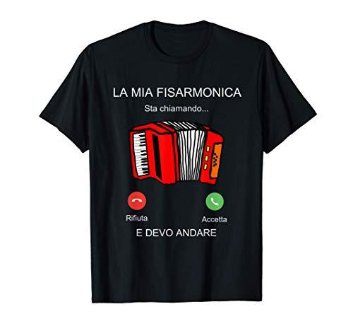 Regalo Uomo Donna Musicista. Scritte Divertenti Fisarmonica Maglietta