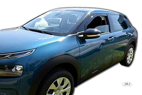J&J Automotive - Deflectores de aire, compatibles con Citroën C4 Cactus 2014, 2 unidades