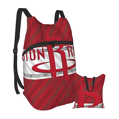 Houston Rockets Shoulder Backpack Lightweight Daypack Packable Waterproof Hiking Bags Day Pack for Adult