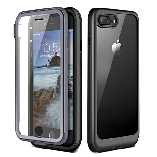 Prologfer Funda para iPhone 7 Plus / 8 Plus 360 Grados Transparente Carcasa...