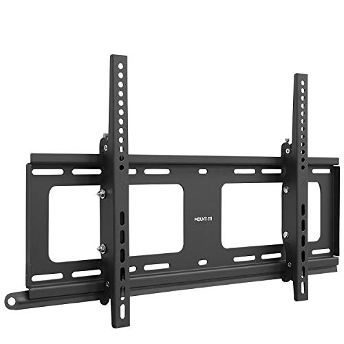 Mount-It! Weatherproof Outdoor TV Wall Mount   Lockable & Tilting 2.1' Low Profile Design Fits 37 38 42 50 55 58 60 65 70 75 80 Inch Televisions   VESA Compatible up to 600x400mm   176 Pound Capacity