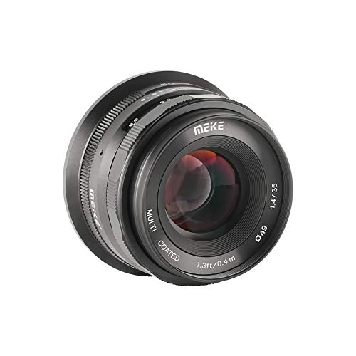 MK 35mm F1.4 大口径マニュアルフォーカスプライムレンズ マイクロフォーサーズ M43 MFTカメラとBMPCC用