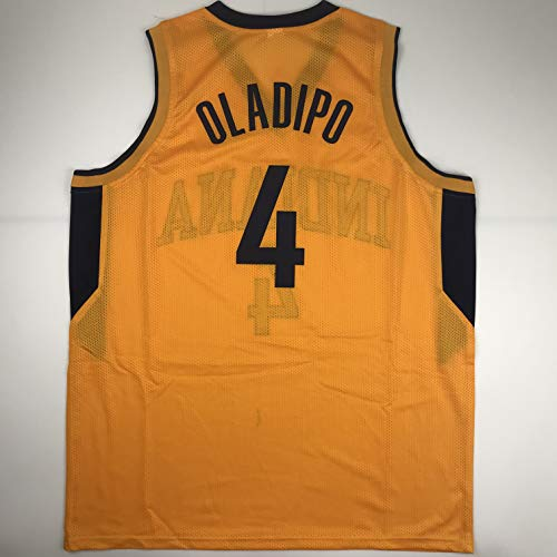 Unsigned Victor Oladipo Indiana Yellow Custom Stitched Basketball Jersey Size Men's XL New No Brands/Logos