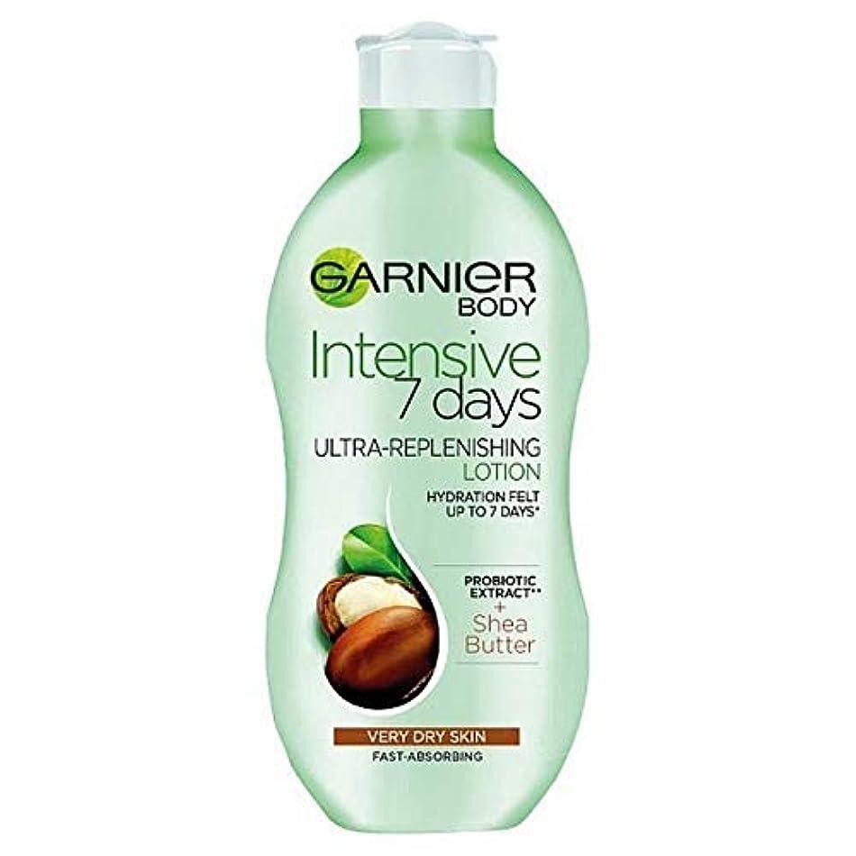 確認してください栄養リゾート[Garnier ] ガルニエの集中7日間シアボディローション乾燥肌用400ミリリットル - Garnier Intensive 7 Days Shea Body Lotion Dry Skin 400ml [並行輸入品]