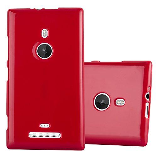 Cadorabo Custodia per Nokia Lumia 925 in Jelly Rosso - Morbida Cover Protettiva Sottile di Silicone TPU con Bordo Protezione - Ultra Slim Case Antiurto Gel Back Bumper Guscio