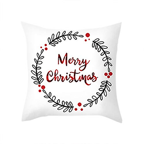 SSMEY Christmas Pillow Covers, 18 x 18 Inch Christmas Pillow Cases Decorations, Pillowcases for Sofa Bed Chair