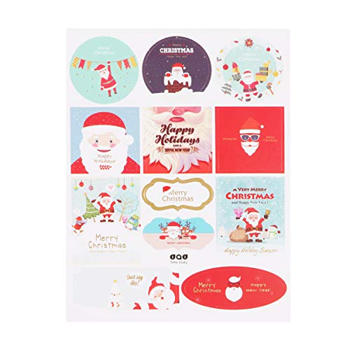 Cabilock 20 ark 240 stycken god jul klistermärken sigill etiketter jul etiketter för presentkort lådor kuvert väska semester fest leverans