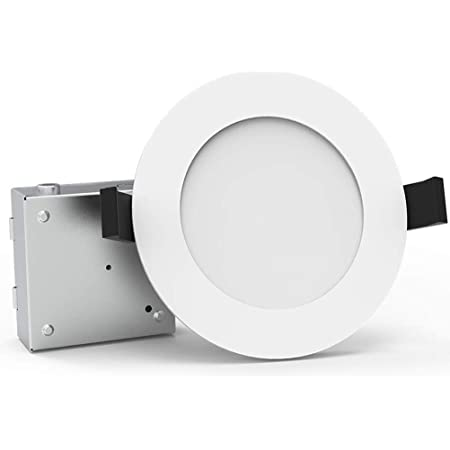 6 Ultra Thin Led Recessed Lights 5000k Daylight Bbounder Dimmable Ceiling Light Downlight With Junction Box 12 5w 850 Lm Etl And Energy Star Certified 12 Pack