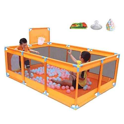 LXDDP Parc pour bébé Pliable Activité Centre Jeu Parc pour bébé avec balles Indoor Nursury Center Jouez sur Le Matelas Go Playard (Taille: avec Panier)