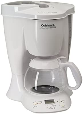Cuisinart DGB-300 Automatic Grind & Brew 10-Cup Coffeemaker, White