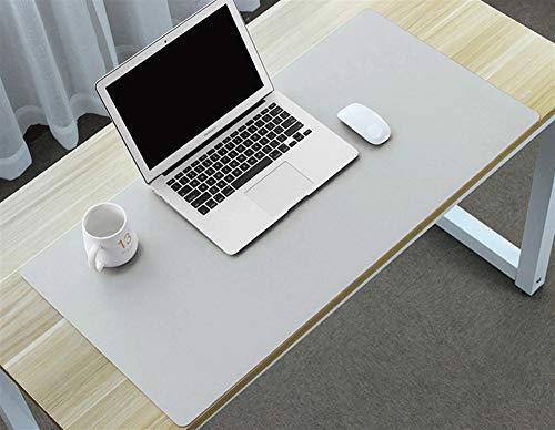 Insun Tappetino per Mouse Ufficio Antiscivolo e Impermeabile PU Pelle Tappetino Grigio Chiaro 60x30cm