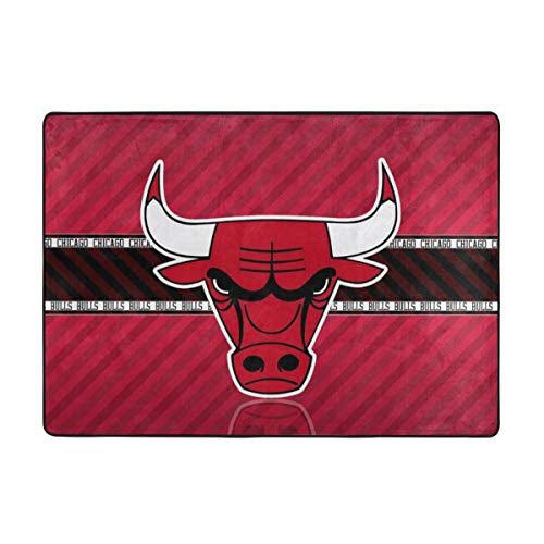 Dopy Chicago Basketball Fans Large Area Rugs for Living Room Bedroom Kids Area Rugs Baby Rugs for Play Area Rugs 5x7 Under 50