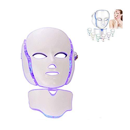 QLHYSYS masker, led, 7 kleuren, voor fototherapie, collageen, anti-aging, strakkend, littekens