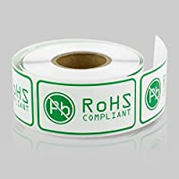 2 x 1 Inch - RoHS Compliant Stickers by Tuco Deals (5 Rolls Per Pack) [並行輸入品]