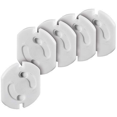Protector enchufe seguridad niños bebes UE (5 uds) Blanco, Cablepelado