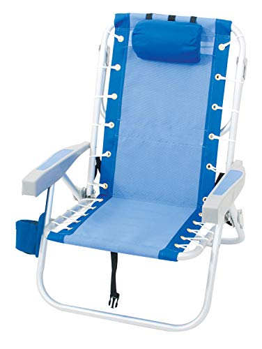 Rio Gear Ultimate Backpack Chair with Cooler, Blue/Blue