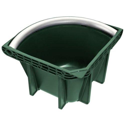Busse Futtertrog ECKE-PROFI, PVC, dunkelgrün, 16