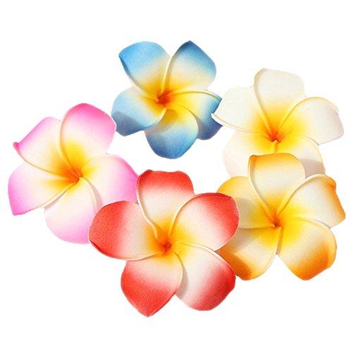 FSSTUD 10 STK 7 cm Bunt Frau Hawaii Blumen Haarklammer Haarspange Haarschmuck für Party Strand Braut